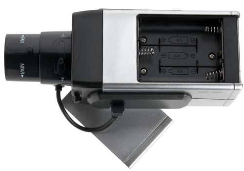 Srebrna atrapa kamery z diodą - Atrapy
